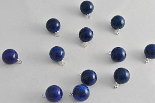 ビーズクラブ ラピスラズリ ラウンド ペンダントトップ 銀 12mm 5個 パワーストーン 天然石 ラピス 青 ブルー