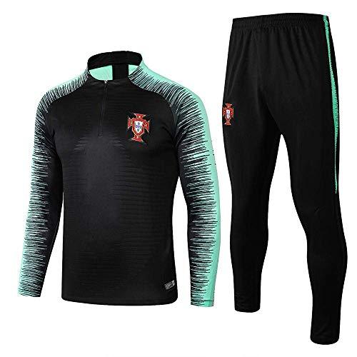 AORUNZHI Jersey Langarm Trainingsanzug Heimmannschaft Fußballuniform Halber Reißverschluss Aufwärmen Sportanzug