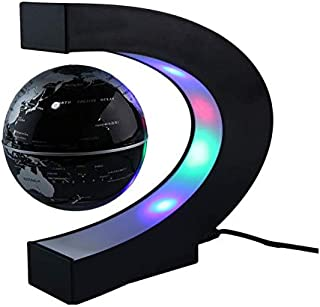 C Shape LED World Map Floating Globe Tellurion Magnetic Levitation Light Antigravity magic/novel light Home Decor