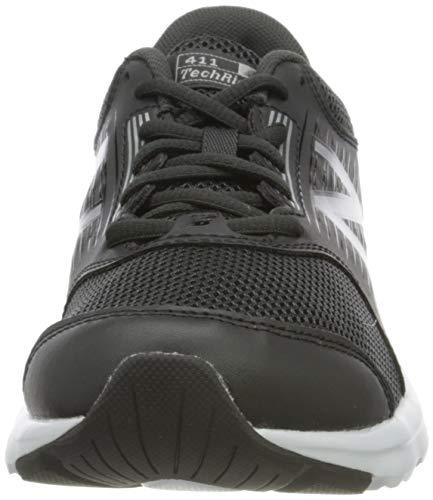 New Balance 411 Sneakers, Zapatillas de Correr Mujer, Negro (Black/White), 36.5 EU