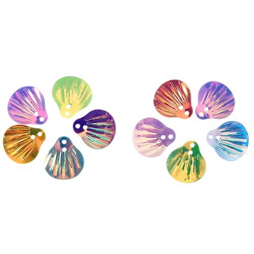Confeti, Hermosas Lentejuelas Suministros de Fiesta Decoraciones Suministros de Artesanía Confeti Ropa Suministros de Arte para Zapatos para Ropa (Conchas)