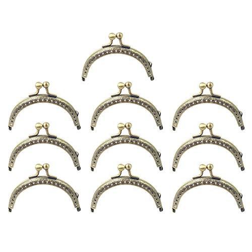 Manici per Borsa Retro per Donna Demine Set di 6 Pezzi Chiusura per Borsa Portafogli Cornice Bacio Chiusura per DIY Vintage Accessori Portafogli Cornice Chiusura per Cucire Borse da Donna