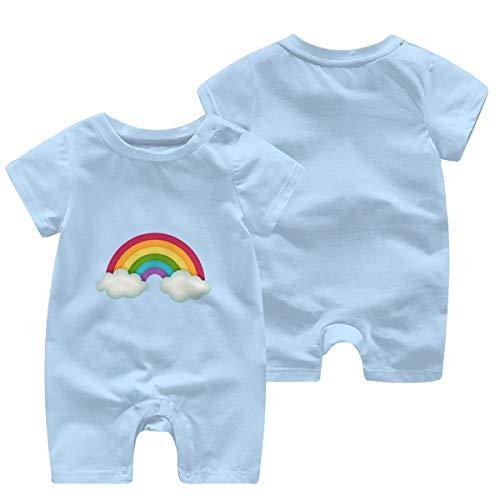 Bebé Bebé De Manga Corta Arco Iris Em Png Chuva De Amor Mono Peleles Cortos Traje Azul azul celeste 6 Meses