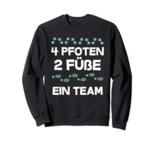 4 Pfoten, 2 Füsse, ein Team, Hunde, Vierbeiner,Hundebesitzer Sweatshirt
