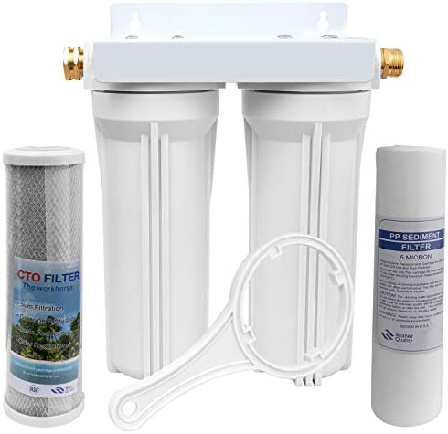 OKBA RV Water Filter System External RV Dual Water Filtration System for RVs Boats Marines Motorhome product image
