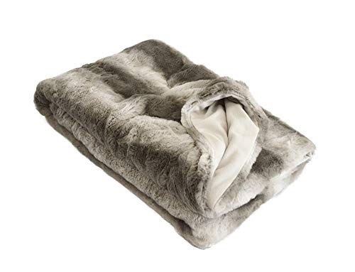 MESANA Wohndecke Decke Blanca grau Polyester Microfaser-Fleece Tagesdecke Kuscheledecke Zudecke Fleecedecke warm kuschelig Decke gemütlich Wohnzimmerdecke