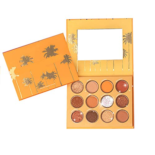 12 Couleurs Palette Fard à Paupières Eye Shadow Kit High Pigment Étanche Longue Durée Glitter Shimmer Multifonctionnel Ombre à Paupières Maquillage Cosmétique,1