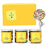 SMARTY BOX Caja Regalo Caramelos y Gominolas San Valentín, Cumpleaños Novio, Novia Pareja, Enamorados, Cesta Golosinas Chuches sin Gluten, Dulces Fabricado en España