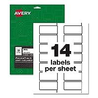 "Avery PermaTrack 丈夫なホワイトアセットタグラベル 3/4"" x 2"""