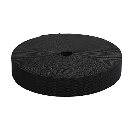 MYUREN 3/4 Inch by 20 Yard Black Heavy Stretch High Elasticity Elastic Spool Knit Elastic Bands for Sewing