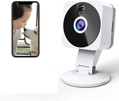 Camara Vigilancia WiFi Interior Exterior, NIYPS HD 1080P Camara Vigilancia Bebe con Vision Nocturna, Audio de 2 Vías, Sensor Movimiento y Cloud, Camara IP para Bebe, Ancianos, Mascota Monitoreo
