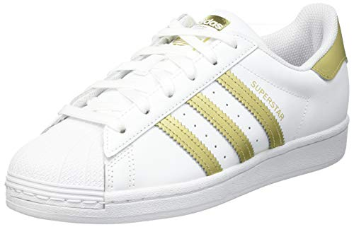 adidas Superstar, Sneaker Mujer, Footwear White/Gold Metallic/Footwear White, 40 EU
