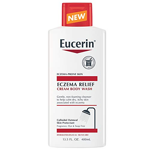 Eucerin Eczema Relief Cream Body Wash, Gentle Cleanser for Eczema-prone Skin, 13.5 Fl Oz