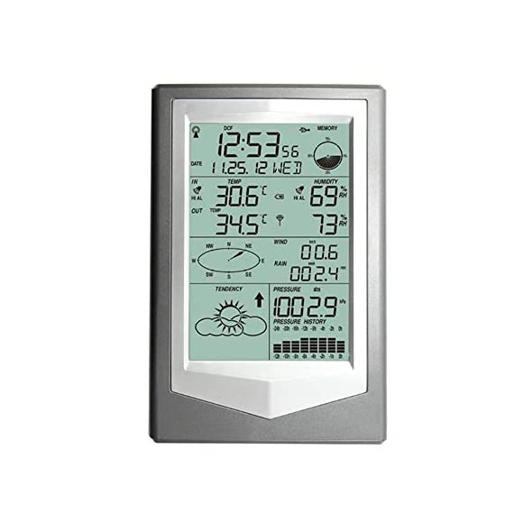 Yadsheng hygrometer thermometer hygrometer barometric pressure weather forecast professional indoor thermometers (color… 2 intelligent function enables you to adjust situation of your wine cellar, greenhouse or other places in time. 3. The rcc time function can be set as wwvb; wireless 433 mhz receiving. Available distance: 100 meters in open field 4. Alarm function: alarm sound gradually enhanced to remind user, alarm time is 2 minutes
