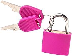 Multicolor Kleine Messing Hangsloten Plastic Hangslot met 2 Sleutels voor Toolbox Bag Bagage Dagboek (Geel)