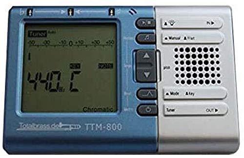 Totalbrass® TTM-800 Metronom/Stimmgerät für Blasinstrumente optimiert, für Saxophon Trompete Tuba Klarinette Bariton Flöte uvm. mit deutscher Anleitung