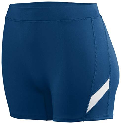 Augusta Sportswear Mädchen 1336, Mädchen Damen, Girls' Stride Short L Navy/White, Marineblau/weiß, Large