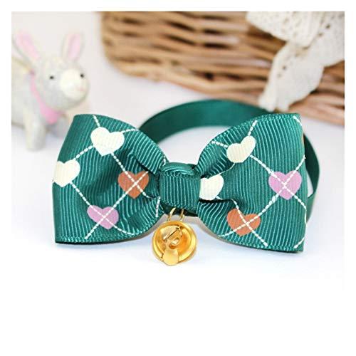 EKYJ Modisches Hundehalsband, Schleife, Glöckchen, verstellbare Halsbänder für Hunde und Katzen,...