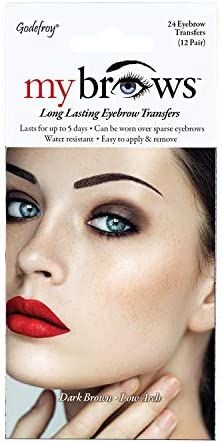 Godefroy MyBrows Long Lasting Eyebrow Transfers Low Arch Dark Brown 12 Pairs of Brows product image