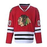 Clark Griswold Jersey #00 X-Mas Christmas Vacation Movie Sports Shirt Ice Hockey Jerseys (Red, Medium)