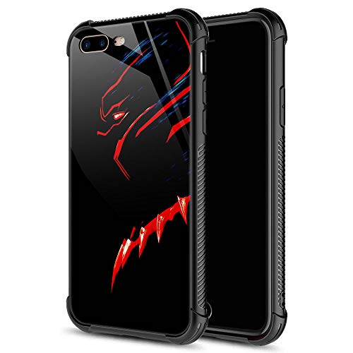 iPhone 8 Case,iPhone SE 2020 Case,Black Red Panther iPhone 7 Cases for Girls Boys,Fashion Graphic Design Shockproof Anti-Scratch Drop Protection Case for Apple iPhone 7/8/SE2