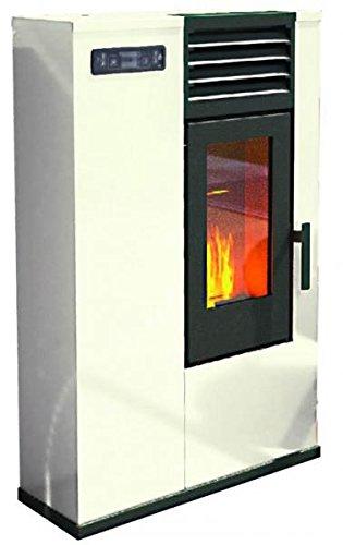 Pelletofen Punkt Feuer Susy Elfenbein Max 6kW–70/150m³–guckt nur 23cm