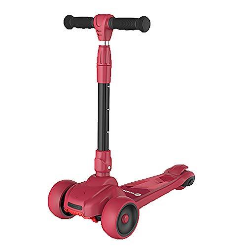 LABYSJ Versión Mejorada Kick-Scooter Patinete para Niños, Pedal Antideslizante, Rueda Intermitente, 4 Tipos De Ajuste De Altura, 1-14 Años
