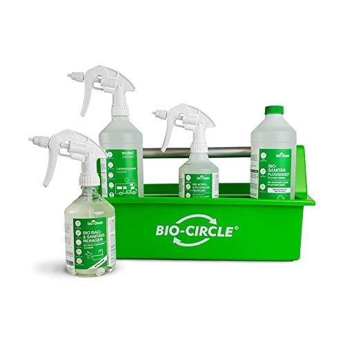 bio-chem CLEANTEC Caravanbox, Wohnmobilpflege Set Kit 1 x Caravan-Reiniger Konzentrat 1 x Acrylreiniger 1 x Sanitärflüssigkeit 1 x Bad & Sanitärreiniger