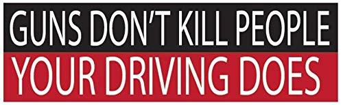 Pro Gun Bumper Sticker Auto Decal Conservatieve Republikeinse Patriot Gun's niet doden mensen uw rijden doet 2e amendement