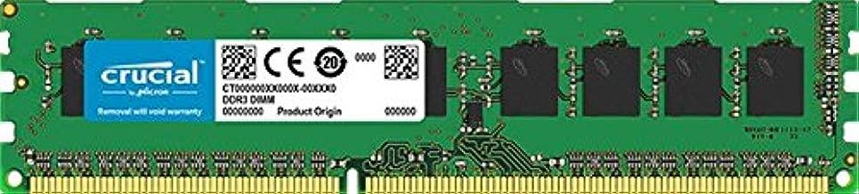 Crucial Technology CT12864AA800 1 GB 240-pin DIMM DDR2 PC2-6400 CL=6 Unbuffered Non-ECC DDR2-800 1.8V 128Meg x 64 Memory