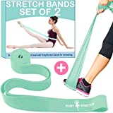 Exercise Stretch Bands for Physical Therapy, Fitness, Gym, Gymnastics, 2 Resistance Bands for Dance and Ballet, Bands for Stretching, Dance Stretch Band for Recovery