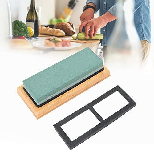Whetstone, Non‑Slip Bamboo Silicone Base Sharpening Grinder, for Home Kitchen Scissor Restaurant Sharpener
