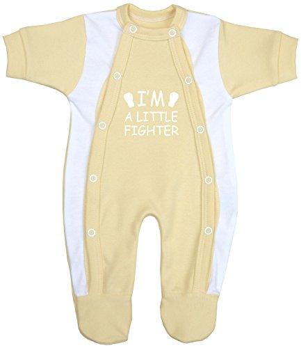 BabyPrem Babyprem Frühchen Baby Kleidung Schlafanzüge Strampler Kleine Kämpfer 44-50cm ZITRONENGELB 2.5-3.4kg
