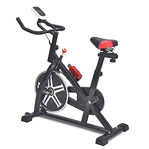 SAFGH Bicicleta estática con Resistencia magnética Ajustable, Bicicletas de Ejercicio para Interiores, Bicicleta estática para Ejercicios, Bicicleta Vertical, Correa de transmisión es la Bicicleta