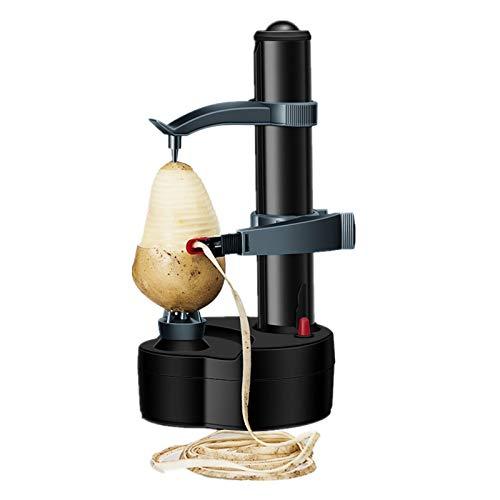 aoory Elektrisch Schäler Elektrischer Kartoffelschäler Früchte & Gemüse Cutter Kitchen Peeling Tool (Schwarz)