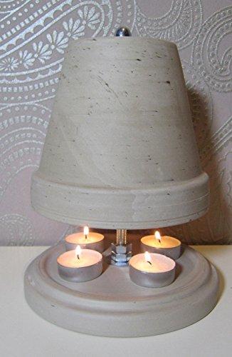 Teelichtofen Kerzenofen Teelichtheizung Höhe 23cm Durchmesser 16cm Farbe Granit