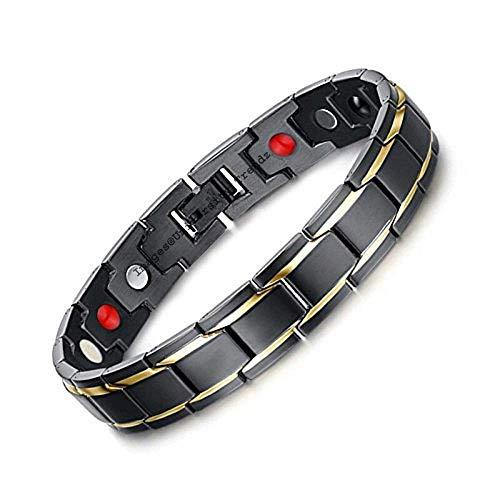 University Trendz 18 k Gold Plated Titanium Health Care Therapy Bio Energy Energy Bracelet