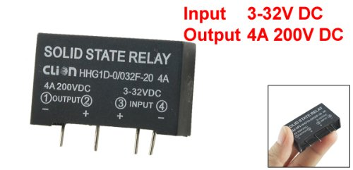 Input 3-32V DC Output 5A 200V PCB Mount SSR Solid State Relay