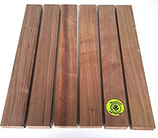 "3/4"" x 2"" x 16"" Solid Black Walnut Hardwood Lumber Made by Wood-Hawk - Pack of 6"