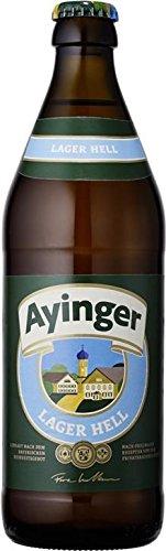 20 Flaschen Ayinger Lager hell a 500ml helles Lagerbier 4,9% Vol. inc. 1.50€ MEHRWEG Pfand