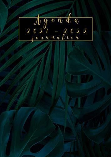 Agenda 2021-2022 journalier: Planificateur 21/22 journalier grand format A4 -tropical - 365 jours ,de avril 2021 a mars 2022,une page =un jour ,avec planification mensuel, annuel
