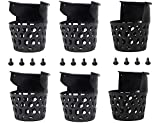 Billiard Pool Table Pockets Durable Plastic Web Replacement Pockets for Pool Table w/12 Screws (Set of 6)