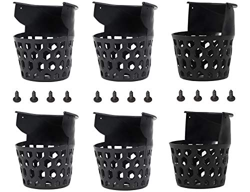 Billiard Pool Table Pockets Durable Plastic Web Replacement Pockets for Pool Table w 12 Screws (Set of 6)