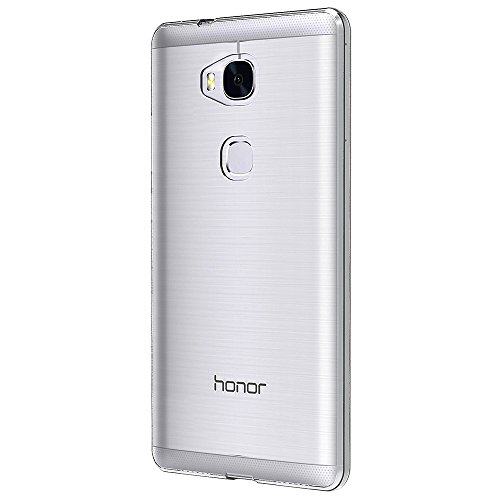 AICEK Huawei Honor 5X Hülle Case, Ultra-Clear Honor 5X Case Silikon Soft TPU Crystal Clear Premium Durchsichtig Handyhülle Schutzhülle Case Backcover Bumper Slimcase für Huawei Honor 5X - 5