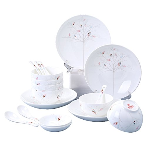 GYC Tao Bone Porzellan Geschirr Set Haushalt 128 Gerichte Fresh Ceramic Dish Set (Color : A)