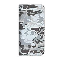 mitas iPhone XR ケース 手帳型 ベルトなし カモフラ カモフラージュ グレー (399) NB-0047-GY/iPhone XR