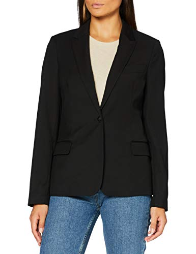 Scotch & Soda Maison Womens Classic Tailored Casual Blazer, Black 0008, XS