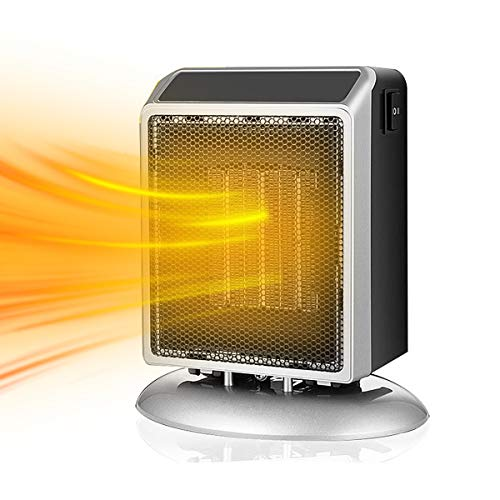 Portable Ceramic Space Heater, 900W/400W Electric Desk Heater Tip-Over Protection and Overheat Protection for Indoor Home Office Dorm Desktop Tabletops Electric heaters Space