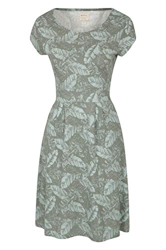 Mountain Warehouse Cannes-Taschenkleid Für Damen, kurzärmelig - leichtes Sommerkleid, atmungsaktiv,sportlich, leicht zu pflegen - ideal Für Urlaube, Strand, Reisen Hellkhaki 50