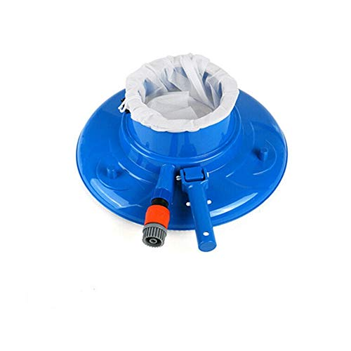 New mmmn Blue Swimming Pool Vacuum Cleaner Leaf Eater Gulper with Brushes Bag and Wheels,Leaf Gulp...